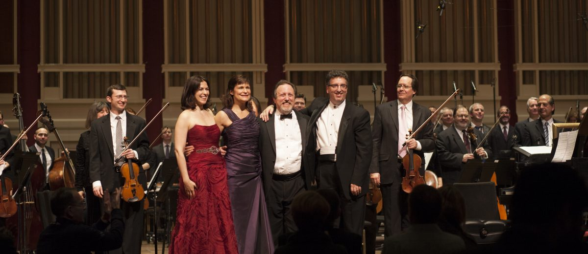 photo of Lucas Richman with the pittsburgh symphony orchestra