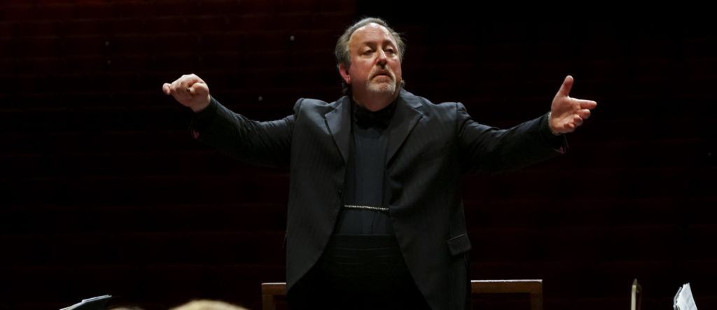 photo of Lucas Richman conducting