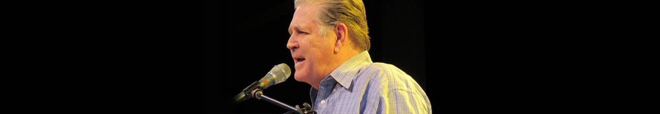 photo banner of brian wilson of the beach boys