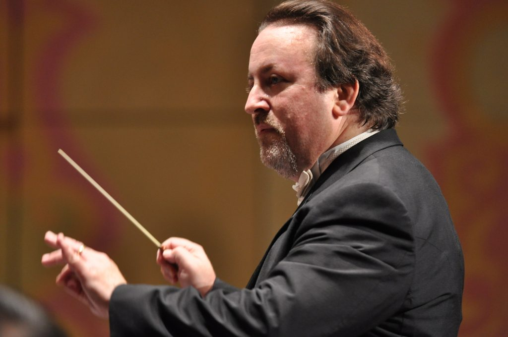 photo of Lucas Richman conducting