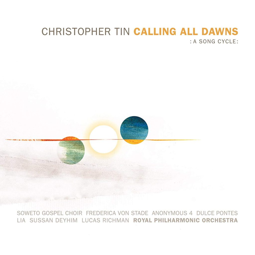christopher tin calling all dawns : a song cycle : cover graphic